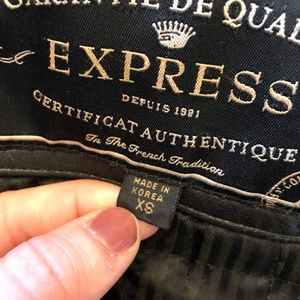 Express Jackets & Coats - Express Genuine Leather Jacket with 3M Thinsulate